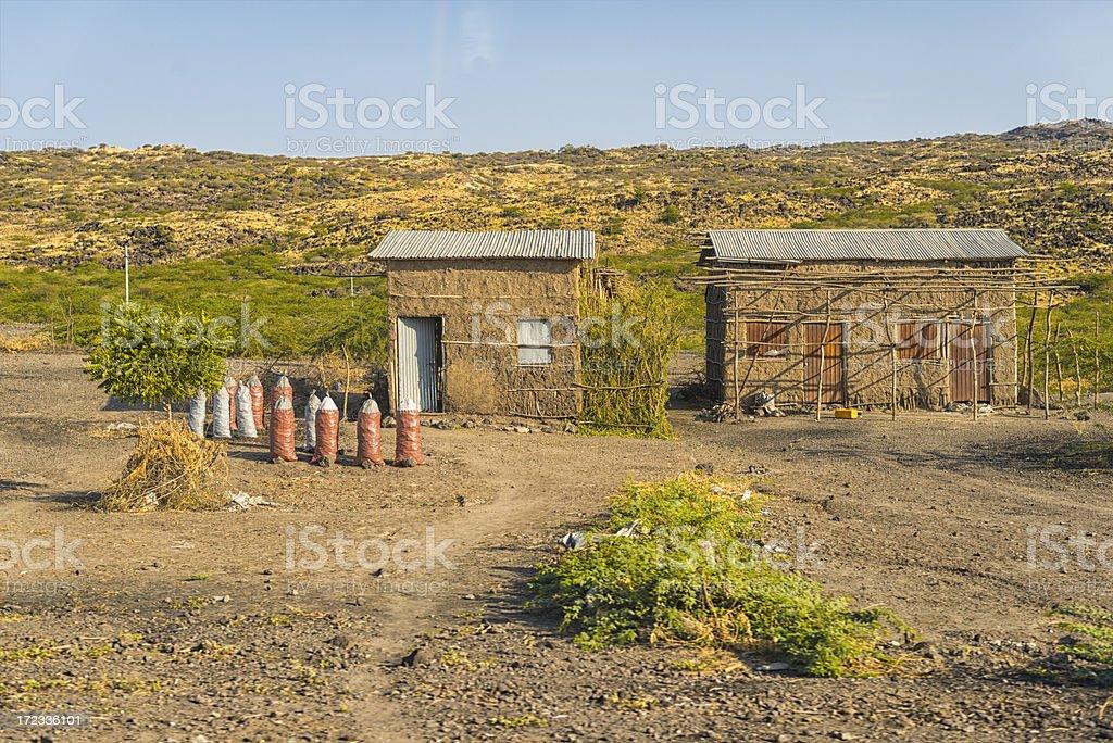 Village in Ethiopia royalty-free stock photo