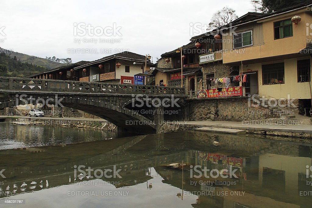 Villaggio di Fujian, Cina foto stock royalty-free
