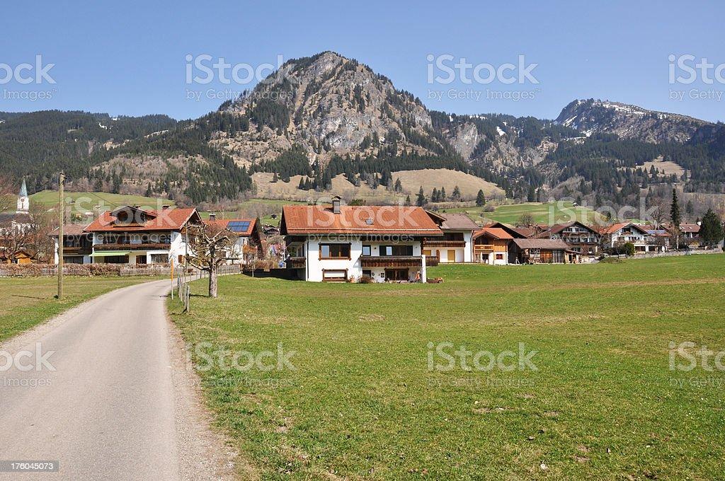 Village in German Allgaeu royalty-free stock photo