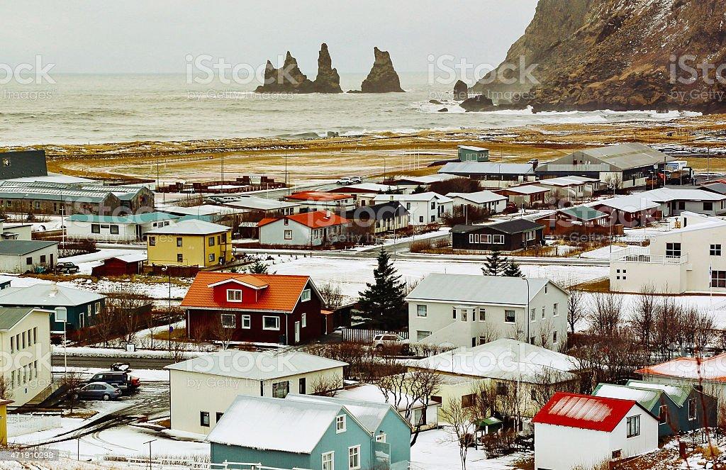 Village in Iceland stock photo