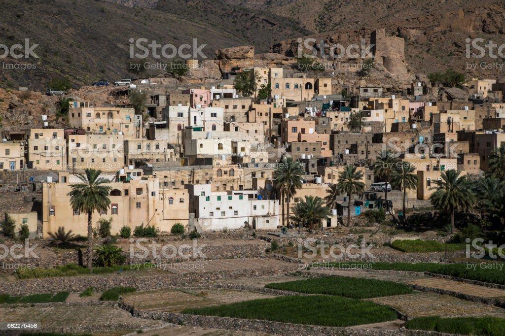 village in mountains of Oman stock photo