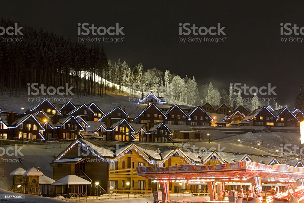 Village in mountains royalty-free stock photo