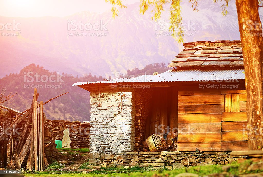 Village in  Nepal stock photo