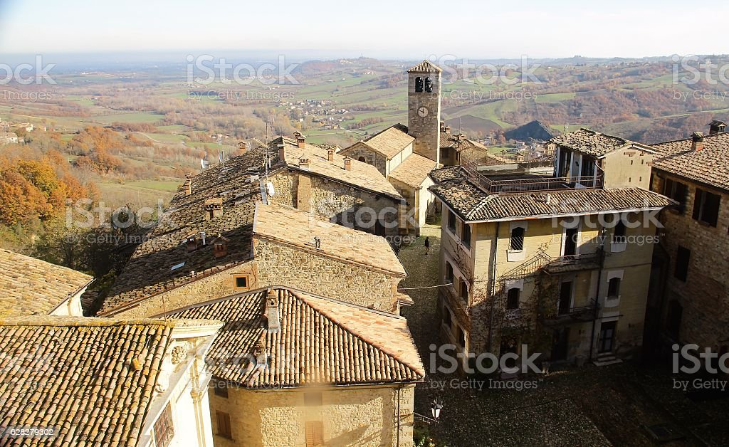 Village in Northern Italy stock photo