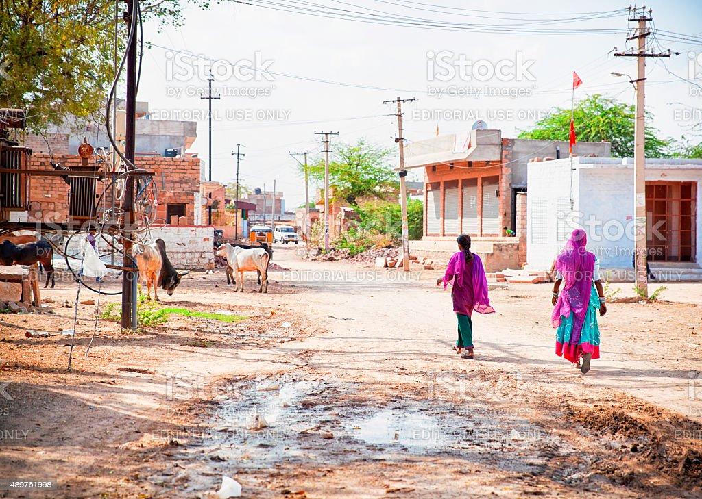 Village in Rajastan. stock photo