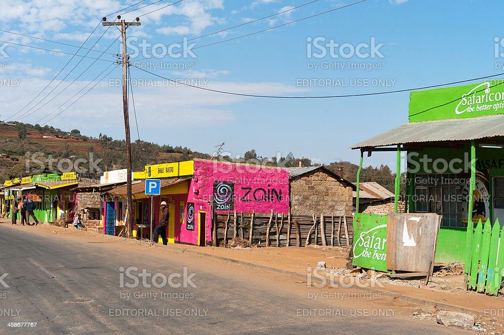 Village in Rural Kenya royalty-free stock photo