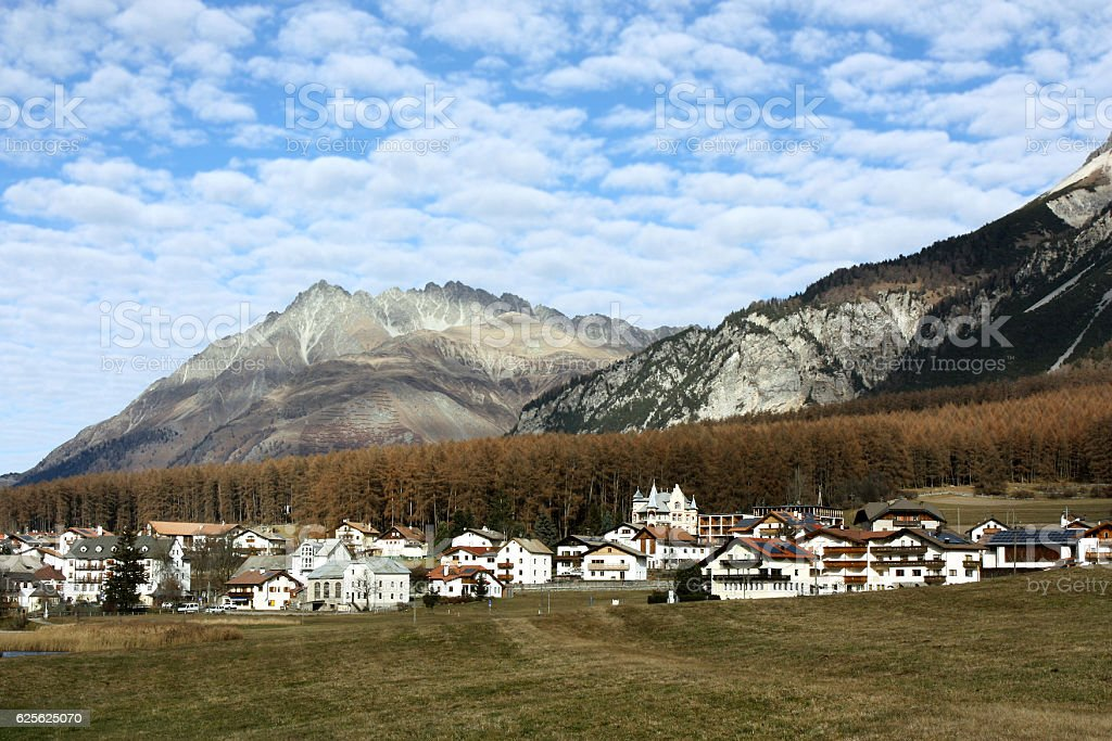 Village in Saouth Tyrol, Italy. stock photo