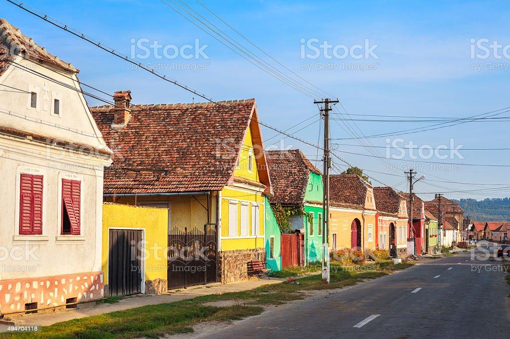 Village in Saxon Land Transylvania Romania stock photo