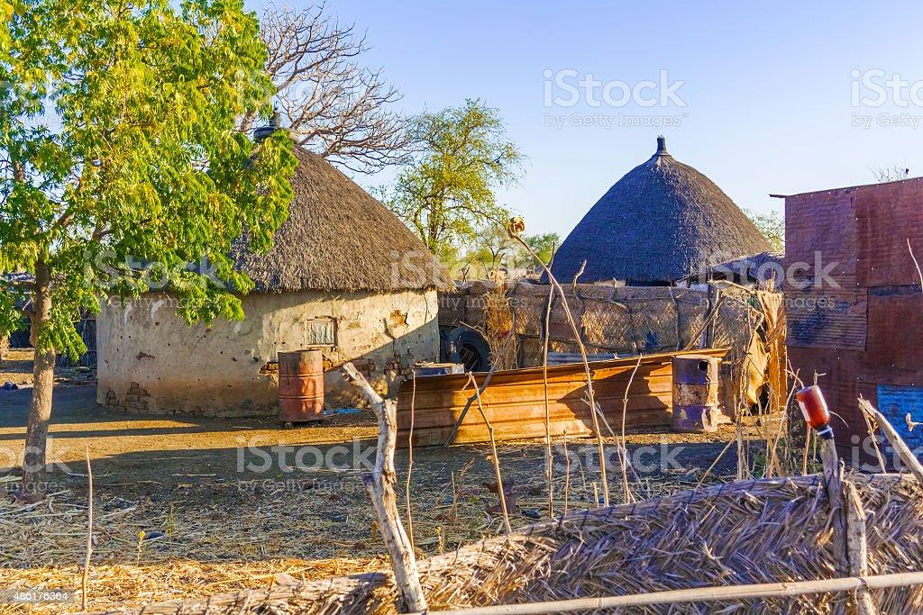 Village in Sudan stock photo