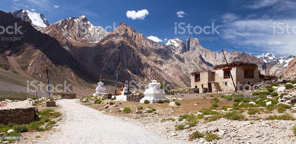Village in Suru valley, Nun Kun Range stock photo