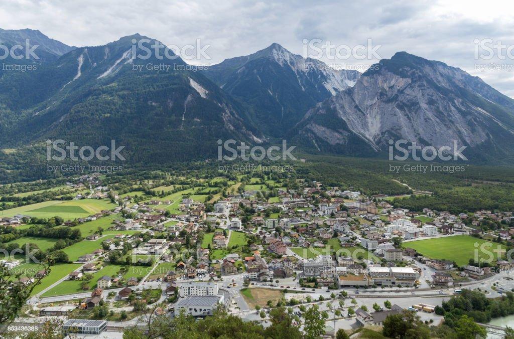 Village in Switzerland stock photo