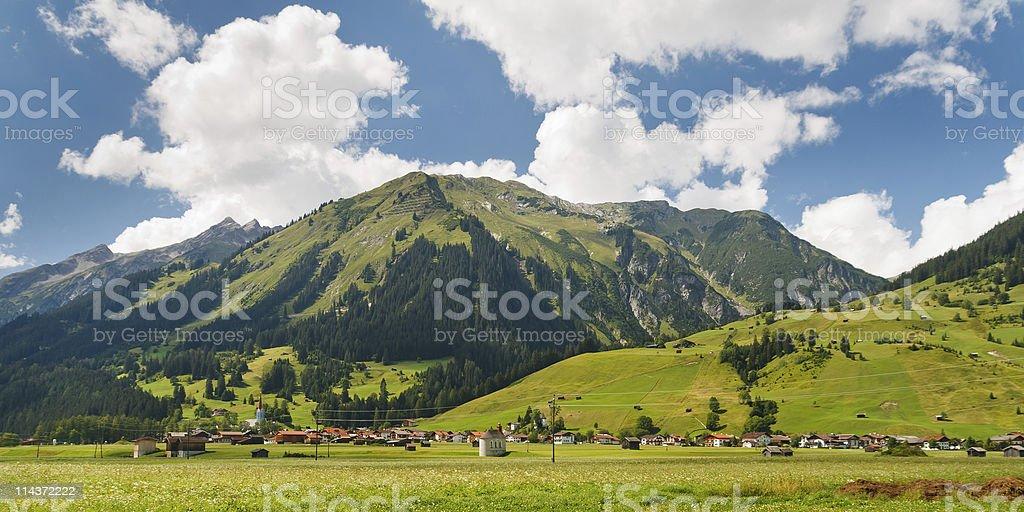 Village in the Alps, Austria stock photo