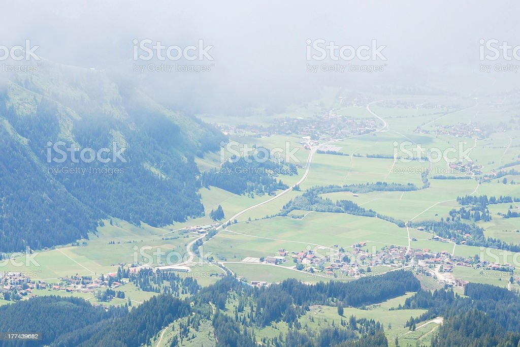 Village in the Alps stock photo