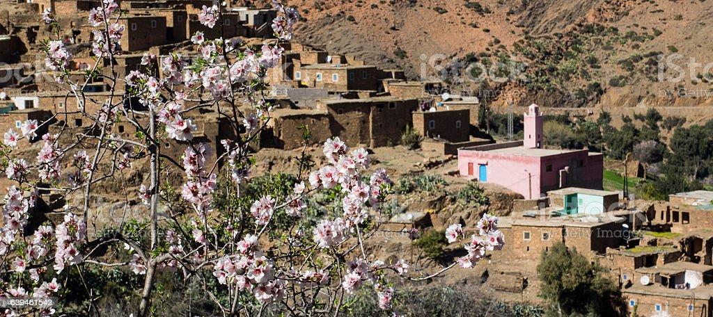 Village in the Atlas Mountains stock photo