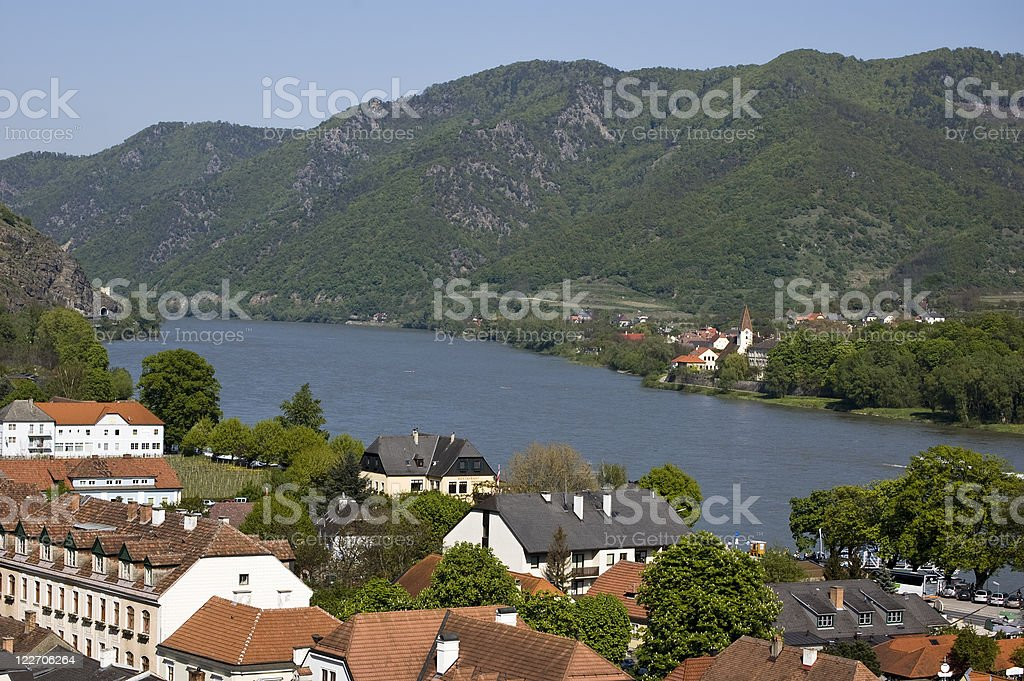 Village in the Danube Valley royalty-free stock photo
