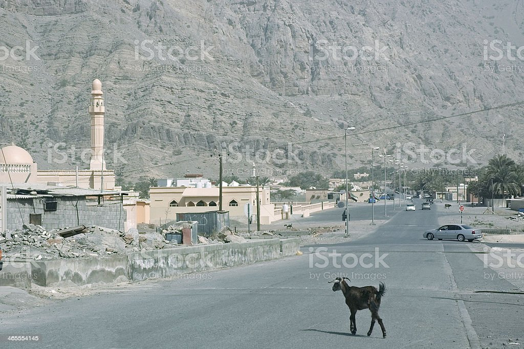 Village in the Emirate of Ras el Kha?ma royalty-free stock photo