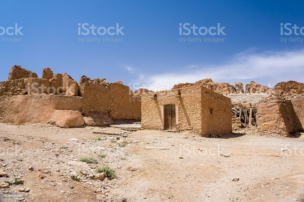 village in the Middle East stock photo