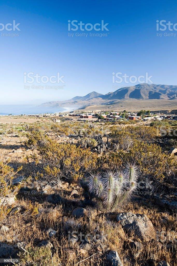 Village in the Norte Chico Region, Chile stock photo