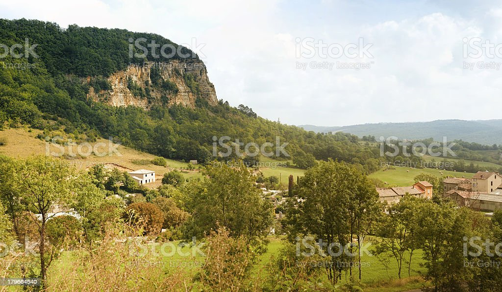 Village in the south of France panorama stock photo