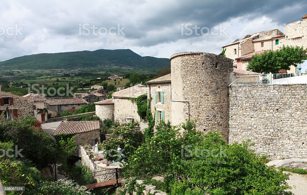 village in the south of france stock photo