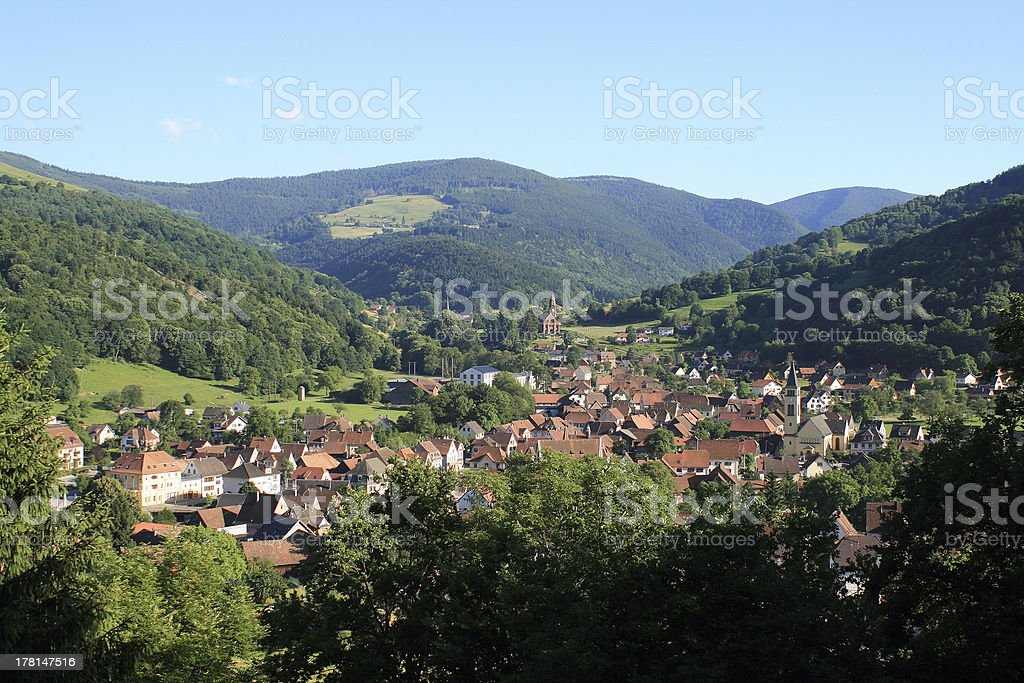Village in the Vosges royalty-free stock photo