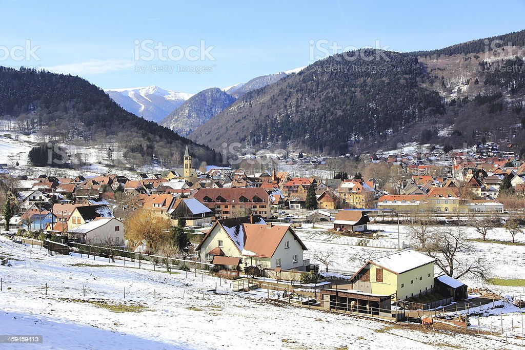 Village in the Vosges stock photo