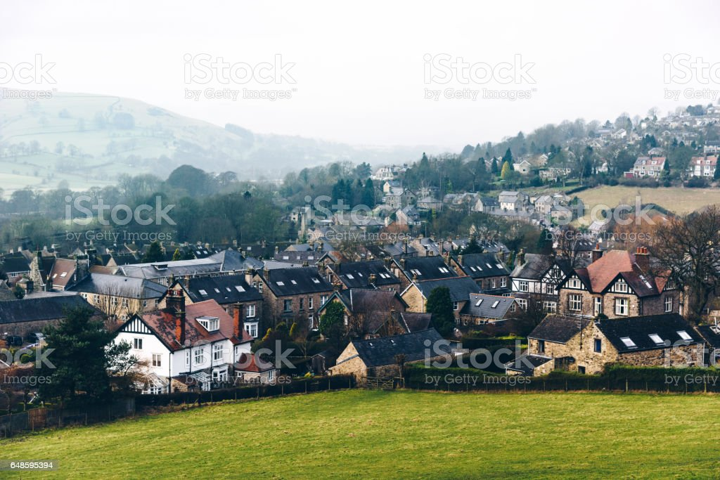 village in the yorkshire stock photo