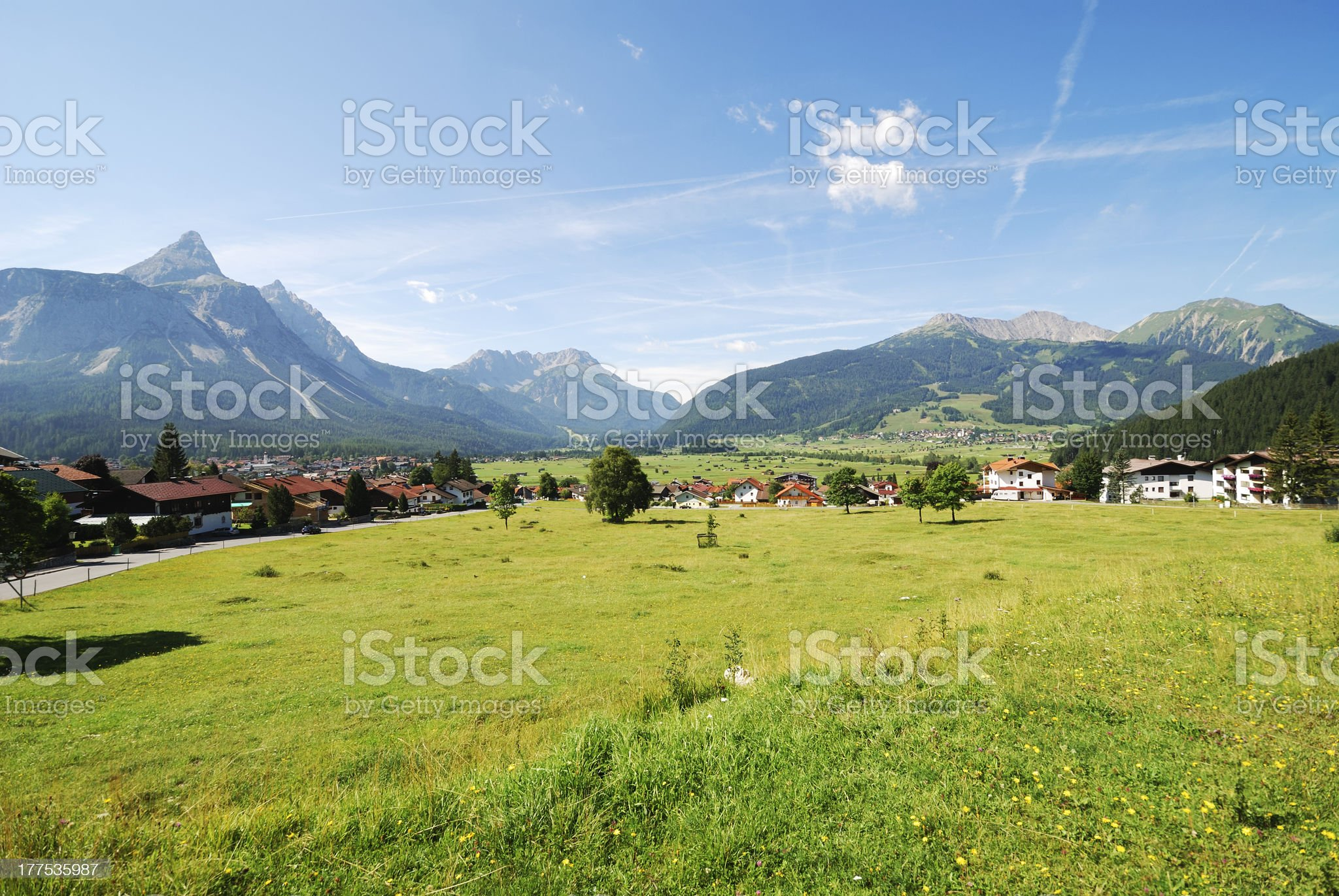 Village in Tirol royalty-free stock photo