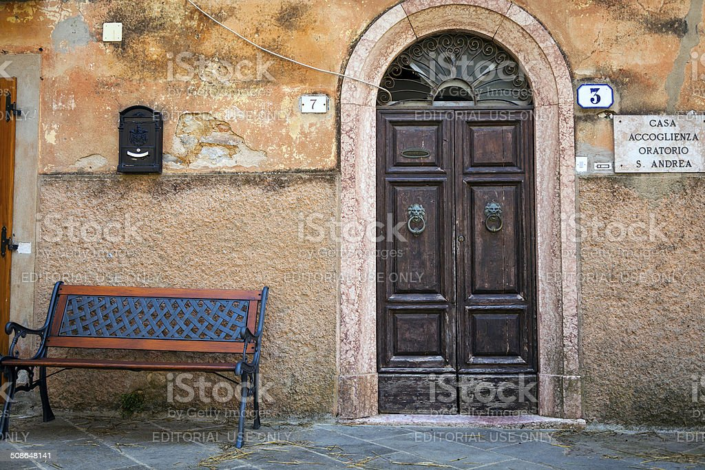 Village in Tuscany, old center. Color image stock photo