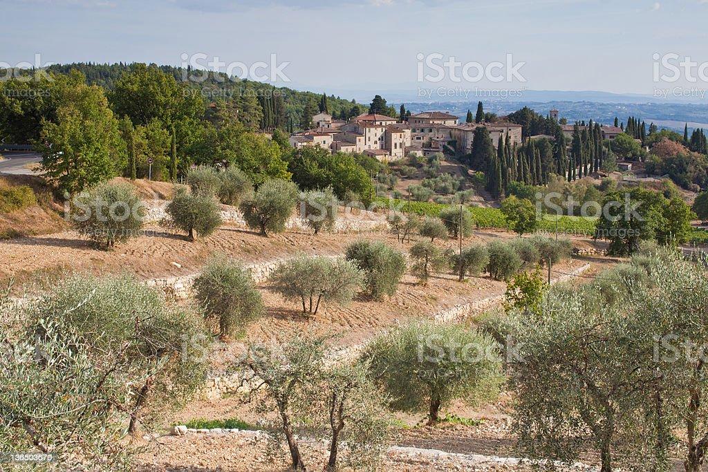 Village In Tuscany royalty-free stock photo