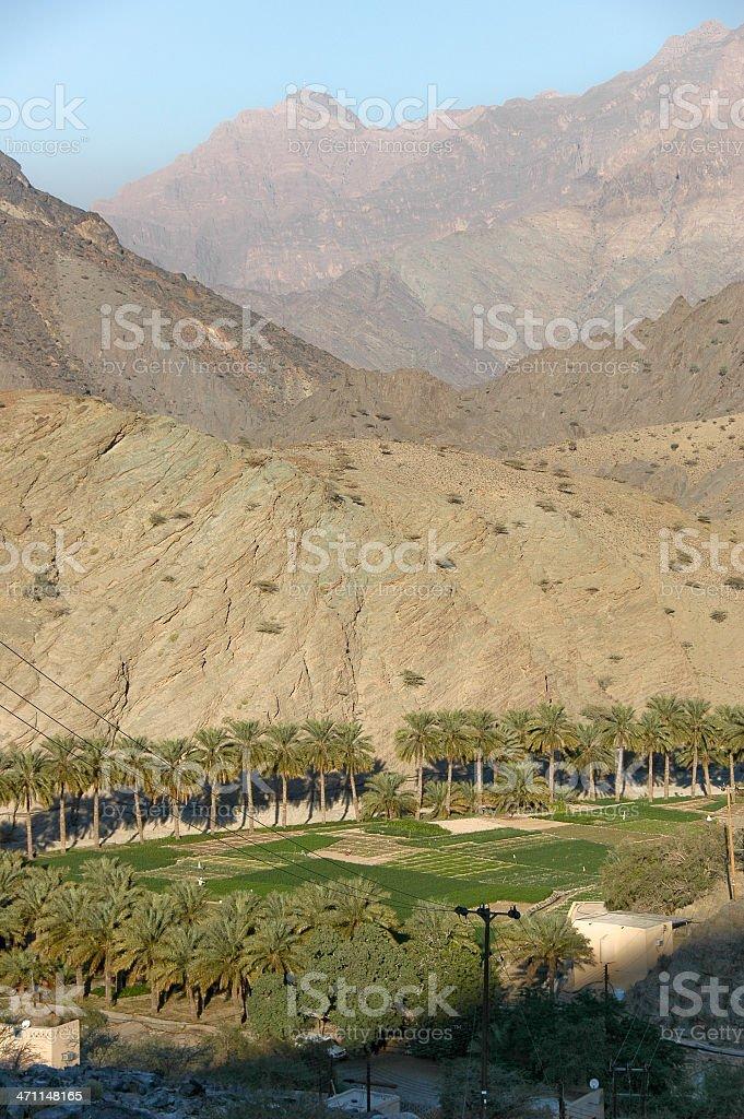 Village in Wadi Awf royalty-free stock photo