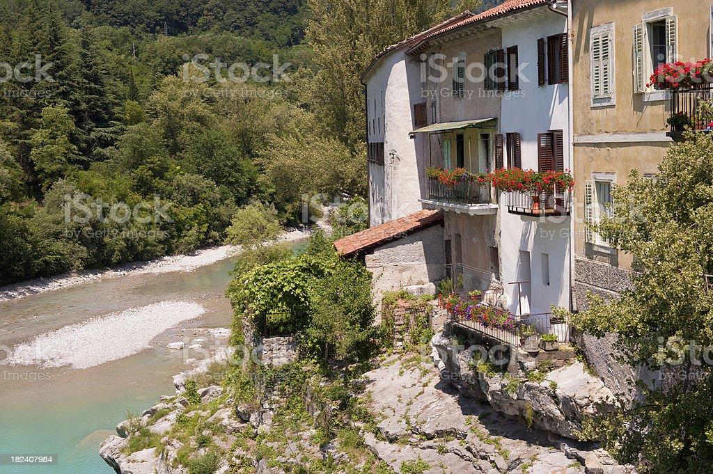 Village Kanal Slovenia stock photo