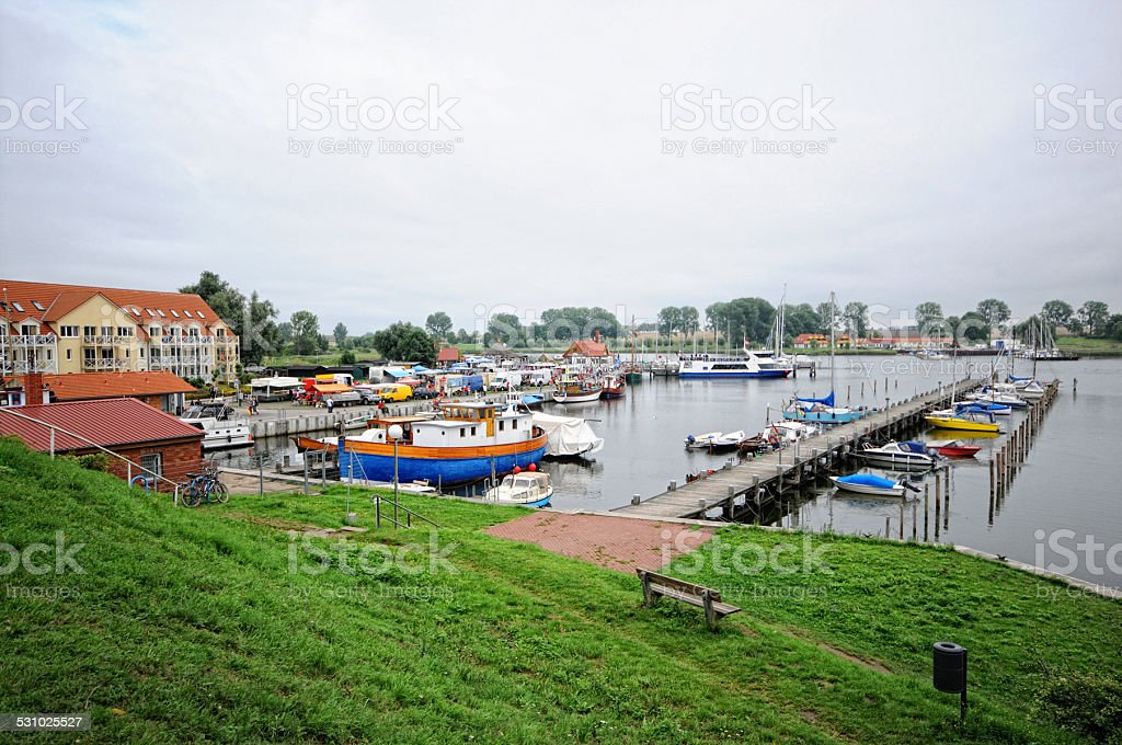 village Kirchdorf at Poel Isle (Germany) stock photo