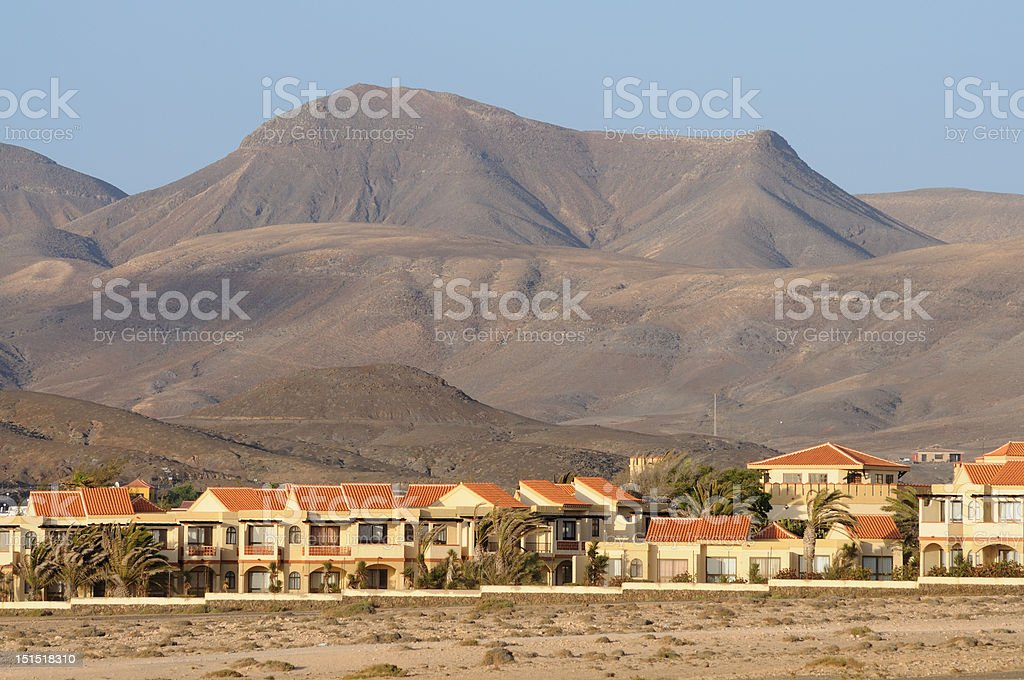 Village La Pared on Canary Island Fuerteventura stock photo