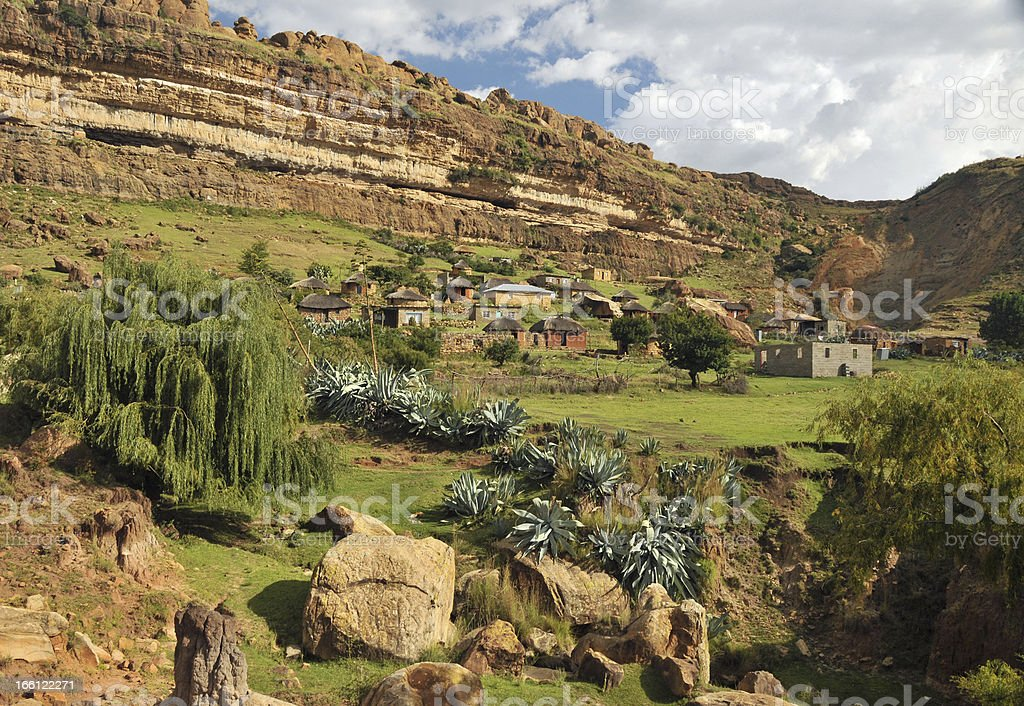 Village, Lesotho royalty-free stock photo