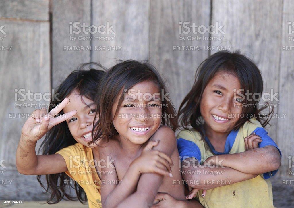 Village life Indonesian girls royalty-free stock photo