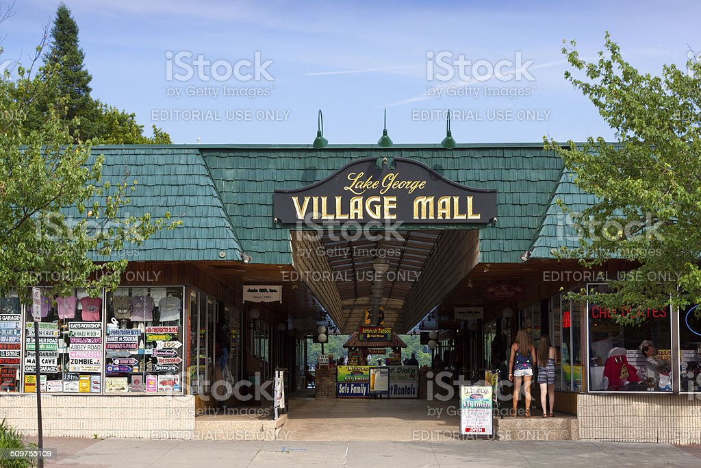 Village Mall, Lake George Village, NY. stock photo