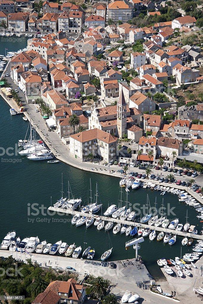 Village Milna on Brac island in Croatia royalty-free stock photo