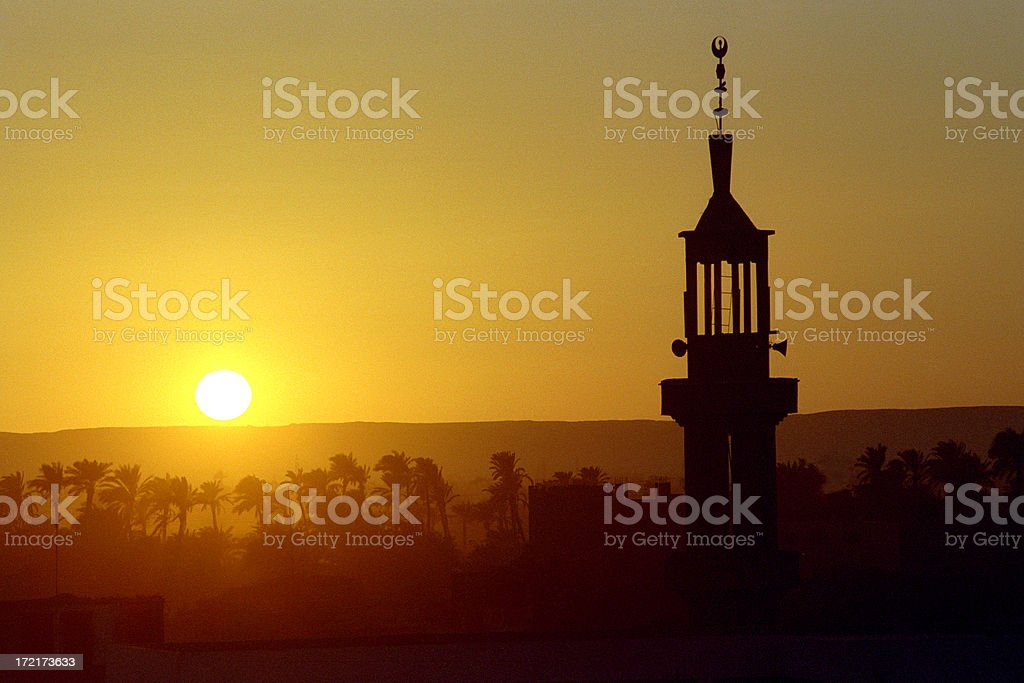 Village Mosque, Egypt stock photo