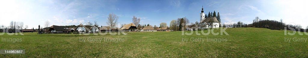 Village museum panorama royalty-free stock photo
