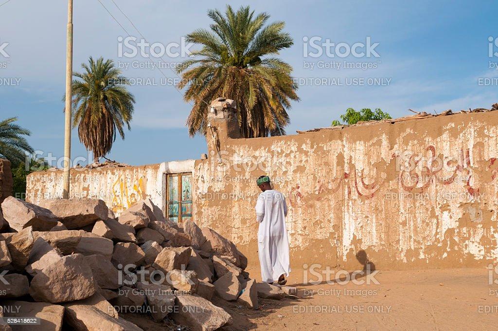 Village near Aswan, Egypt stock photo