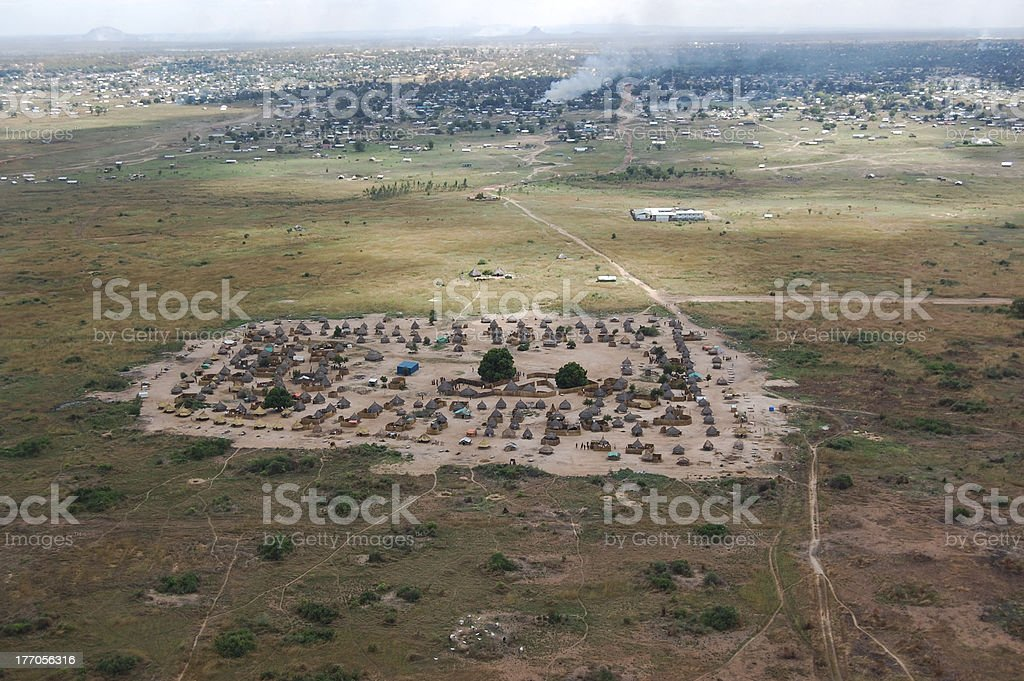 Village near Juba, Republic of South Sudan stock photo