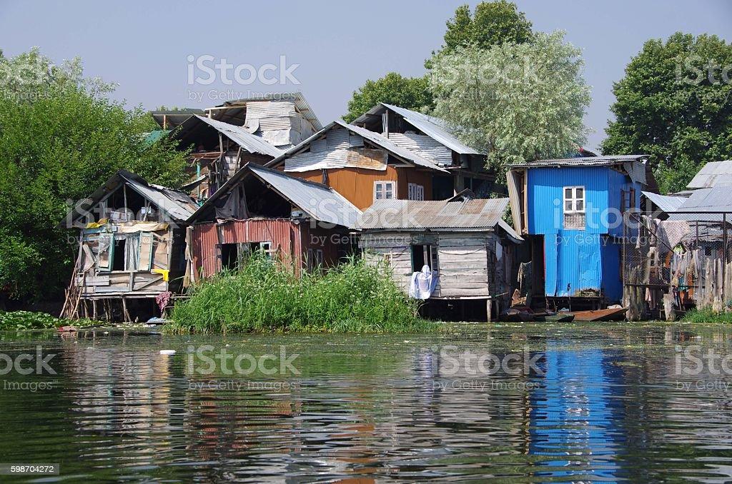 Village near Srinagar in Kashmir, India stock photo