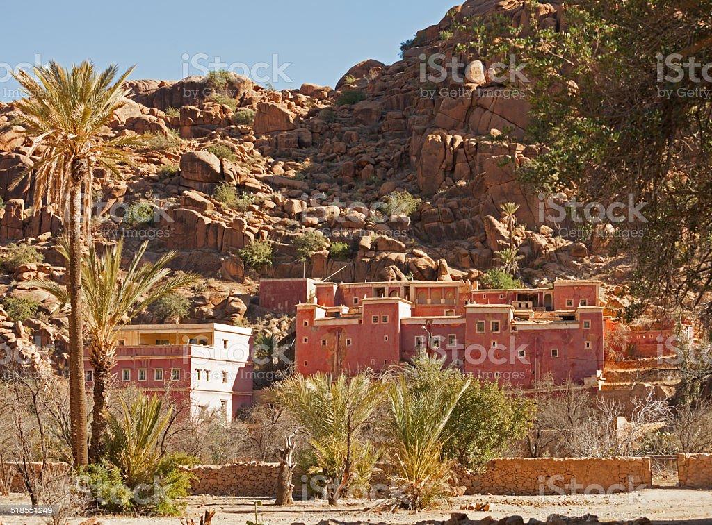 Village near Tafraout. stock photo