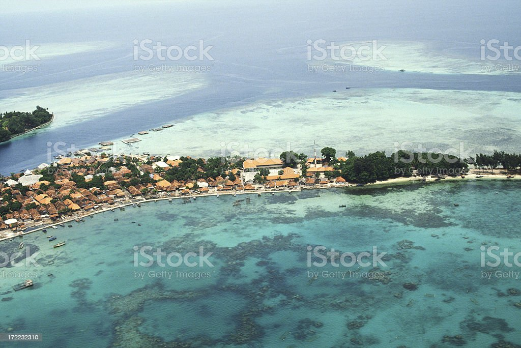 Village of a tropical island royalty-free stock photo