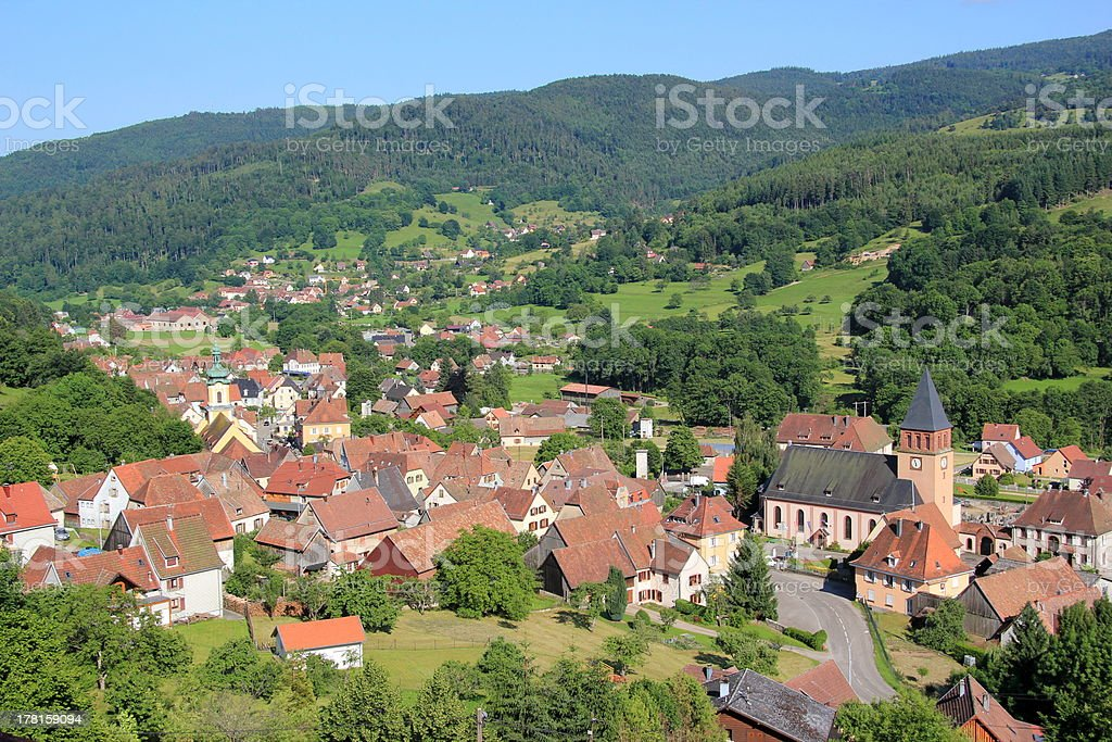 Village of Alsace stock photo