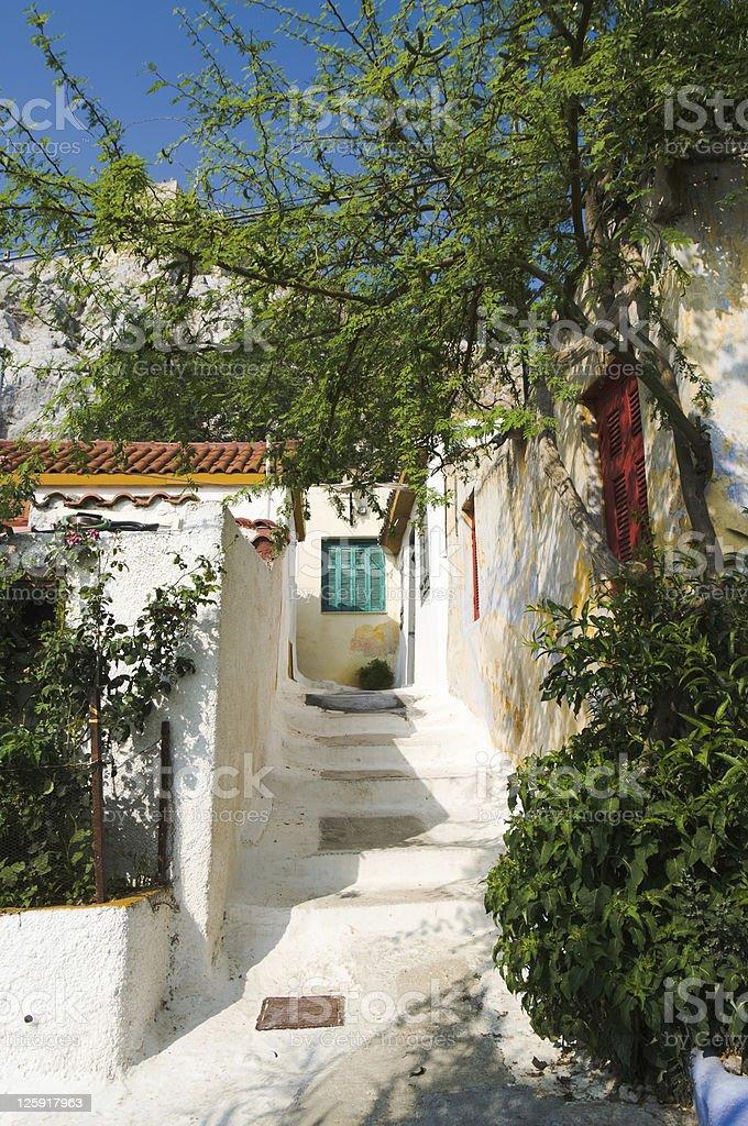 Village Of Anafiotika in Athens royalty-free stock photo