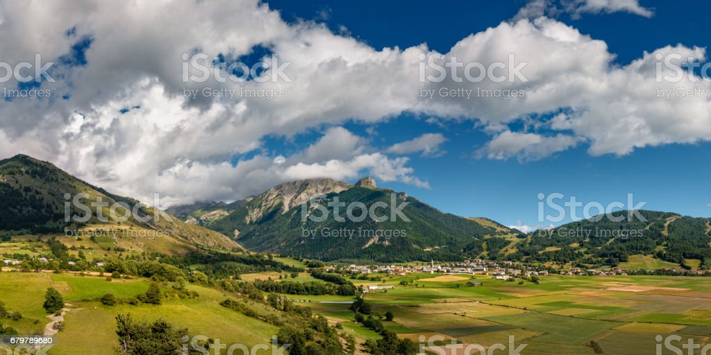 Village of Ancelle in Summer. Champsaur, Hautes Alpes, France stock photo