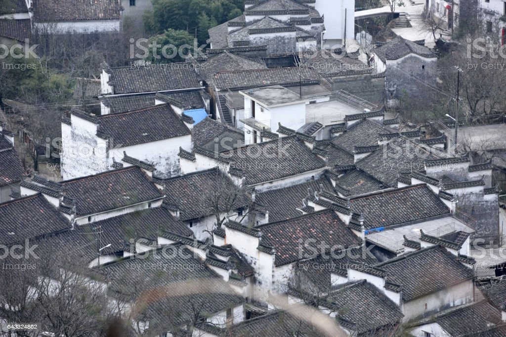Village of ancient Chinese Architecture stock photo