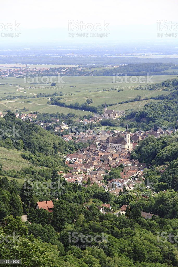 Village of Andlau in Alsace stock photo